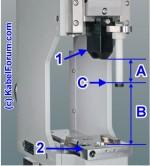 Maschinenhub 40mm - Standards Crimpmaschinen